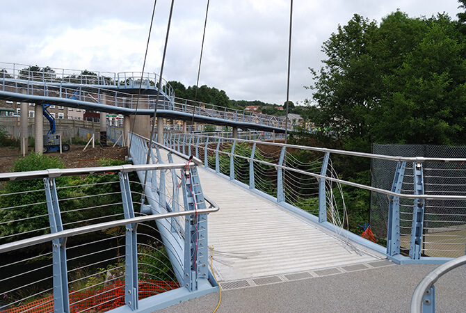 Newbridge Pedestrian Bridge Balustrade S3i Group
