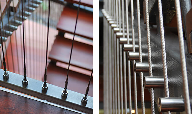 Commercial Vertical Tension Wire Balustrade S3i Group