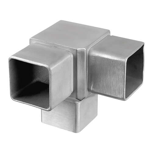 Square Flush 90 176 3 Way Tube Connector S3i Group
